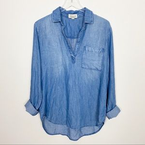 {Anthro} cloth & stone chambray top